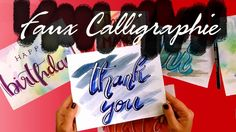 BRUSH LETTERING | FAUX CALLIGRAPHY | DEUTSCH - YouTube Brush Lettering, Drink Sleeves, Youtube, Calligraphy, Deutsch, Projects, Youtubers, Brush Script, Youtube Movies