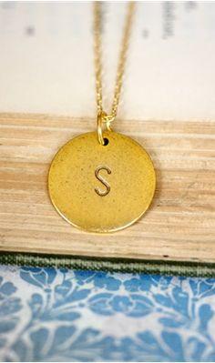 "Gold ""L"" initial pendant necklace"