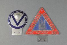 Lot 267, A Hillman Register radiator badge no. M9445 together with a Veteran Sports Car radiator badge Est £40-60