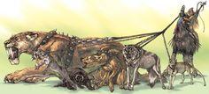 Terryl Whitlatch, Creature Design, Mythical Creatures, Animal Kingdom, Illustration Art, Illustrations, Mythology, Beast, Lion Sculpture