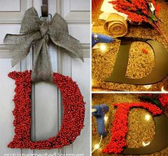 DIY Front Door Monogram Wreath