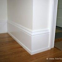I like this shoe moulding WAY more than the quarter round! Want to do this when we lay down our floors! <p>043. Baseboard, shoe molding and casing around doors. Hillsborough, NJ08844.</p>
