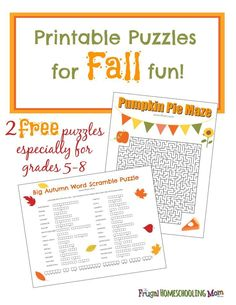 free-printable-fall-thanksgiving-halloween-puzzles-for-middle-school-homeschool MATHEMATIC HISTORY Mathematics is one of many oldest sciences in human history. Halloween Puzzles, Halloween Week, Halloween Activities, Thanksgiving Worksheets, Printable Puzzles, Free Printables, Crossword Puzzles, Middle School Activities, Humor