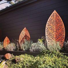 Other Garden Décor Items for sale Garden Wall Lights, Garden Wall Art, Metal Garden Art, Outdoor Wall Art, Outdoor Walls, Outdoor Living, Metal Garden Screens, Lanscape Design, Australian Native Garden