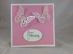 Charlie & Paulchen: Butterfly-Birthday-Card