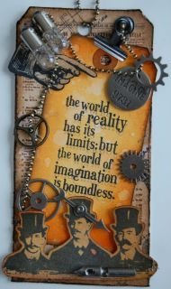 quotes, imagin, diy steampunk crafts, chains, card, tim holtz, steampunk paper craft, steampunk tags, happy halloween