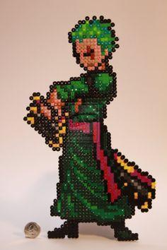 One Piece Zoro NW perler beads by KokanutPixels on deviantART