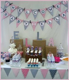 "Photo 1 of 19: Nautical / Baby Shower/Sip & See ""Ella's Nautical Baby Shower"" 