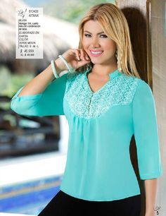 from Pdf ed 30 Blouse And Skirt, Sweater Skirt, Blouse Dress, Blouse Styles, Blouse Designs, Mix Match Outfits, Work Tops, Lace Tops, Dress Patterns