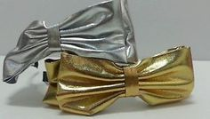 Gold OR Silver Bow Headband