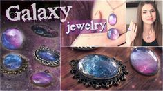 DIY Galaxy Necklace & Ring Pendants // Nail Polish Jewelry Video Tutorial https://www.youtube.com/watch?v=WJep90EBJjs <- Each Piece is created to look like the galaxy. Made using a set nail polish combination the tutorial is easy to follow would make wonderful Stocking Stuffer gift ideas