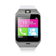 Excelvan GV18 - Smartwatch Reloj NFC Smartphone Libre 2G SIM (Cámara, Bluetooth, Sincronizar Llamada, Anti-pérdida) para Android IOS (Blanco) - http://complementoideal.com/producto/tienda-socios/excelvan-gv18-smartwatch-reloj-nfc-smartphone-libre-2g-sim-cmara-bluetooth-sincronizar-llamada-anti-prdida-para-android-ios-blanco/