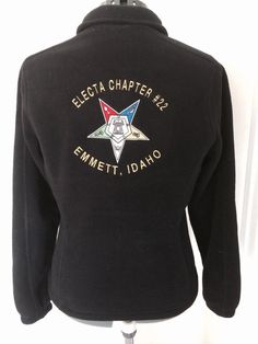 Order of the Eastern Star fleece jacket by DTEmbroideryDesigns, $85.00