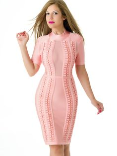 Vestido Rosa Bandage VB249