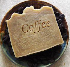 Coffee Butter Shampoo Bar #vegan http://www.aquarianbath.com/soap/body-soaps-handmade-cold-process/coffee-butter-vegan-hair-soap.html #coffee
