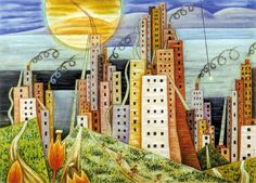 Xul Solar was an Argentine painter, sculptor, writer, and inventor . Edificio Kavanagh, Dream City, Art Database, Cubism, American Artists, Sculpture Art, Art Projects, Exotic, Creatures
