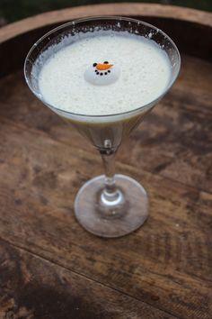 Melted Snowman Martini! 2 oz Vanilla Vodka 1 oz Fireball Cinnamon Whisky 1 oz Rumchata 1 oz Half & Half  Shake Well & Pour Sprinkle with powdered sugar Garnish with Wilton Snowman Candy