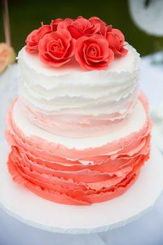 #ombre #wedding cake {Anouschka Rokebrand Photography} #cakes