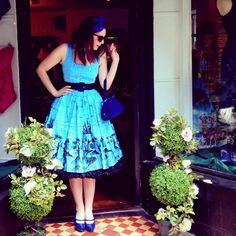 The Aurora Dress is back in stock and it is sweet as a peach pie!