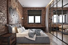 Home Decoration Ideas For Wedding Loft Interior, Home Interior Design, Interior Architecture, Loft Design, Küchen Design, House Design, Bedroom Loft, Home Bedroom, Bedroom Decor