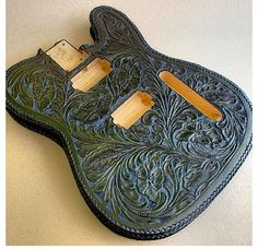 James Hetfield ~ New custom leather guitar! Not finished yet.