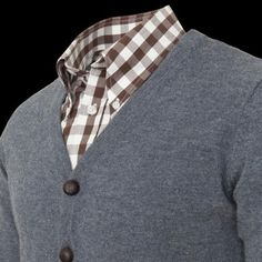 A good and practical colorway for the wet season here. Classic combination of Gingham checks and heather cardigan