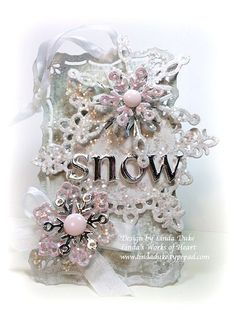 No Time To Stamp? » Sparkly Snow Tag – by Linda Duke