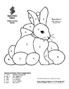 Free Stained Glass Pattern 2035-Easter Bunny & other free patterns