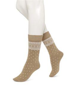 Fairisle Pattern Boot Sock