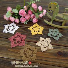frete grátis 2014 novos patches crochet algodão zakka do laço para remendos de tecido clohes decoração flor DIY acessórios zakka como uma decoração de inPatches de Home & Garden em Aliexpress.com   Alibaba Group