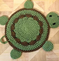 Crochet Turtle Potholder pattern - Crochet Potholder and Placemat Pattern - Turtle Wall hanging and decor - Yarn Sizes, Crochet Hook Sizes, Crochet Hooks, Crochet Round, Double Crochet, Free Crochet, Crochet Turtle Pattern Free, Crochet Potholder Patterns, Crochet Placemats