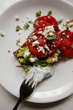 http://wholesomegirls.blogspot.com/2015/09/avocado-toast-and-yoghurt-with-herbs.html