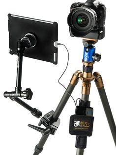 Best iPad or Tablet Tripod Mount for Photography, Teleprompter, Videography. Camera Rig, Camera Backpack, Camera Tripod, Camera Gear, Photography Lighting, Photography Tips, Photography Studio Equipment, Studio Lighting Setups, Studio Build