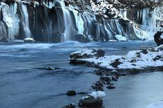 Hraunfossar waterfalls by fredschalk, via Flickr