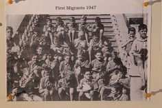 John Hennessy with other child migrants, arriving in Australia in 1947. Photo: supplied