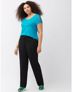 Signature Stretch relaxed straight active pant | Lane Bryant