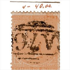QV Jamaica 4d Brown-Orange (SG4) used with A76 Spanish Town cancel