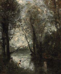 Les trois baigneuses, 1872-73, Jean-Baptiste-Camille Corot