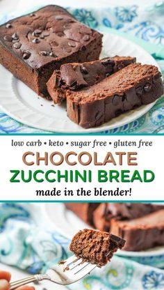 Cajun Delicacies Is A Lot More Than Just Yet Another Food Low Carb Chocolate Zucchini Bread In The Blender - Easy, Sugar Free, Gluten Free, Quick Bread Made In The Blender And Only Net Carbs. Chocolate Sin Gluten, Chocolate Zucchini Bread, Zucchini Bread Recipes, Chocolate Recipes, Banana Bread, Keto Friendly Desserts, Low Carb Desserts, Low Carb Recipes, Dessert Recipes
