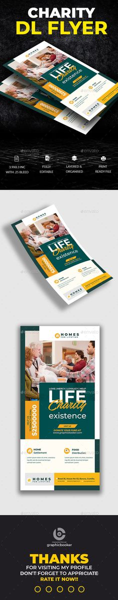 Buy Charity Dl Flyer Template by sadeksaimum on GraphicRiver. Charity Dl Flyer Template This Charity DL FLYER Template is perfectly suitable for promoting your Business. Business Flyer Templates, Promote Your Business, Print Templates, Flyer Design, Charity, Hospice, University, College, Success