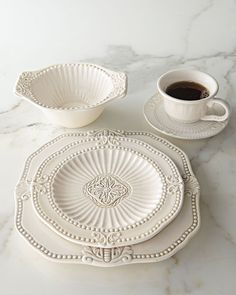 Shop Blush Oro Bello Dinnerware from Neiman Marcus at Horchow, where you'll find new lower shipping on hundreds of home furnishings and gifts. Rustic Dinnerware, Vintage Dinnerware, White Dinnerware, Dinnerware Sets, Stoneware Dinnerware, Neiman Marcus, White Dishes, Deco Table, Earthenware