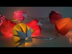 Comment créer une guirlande lumineuse ou des lampions? Modèle Origami en forme de fraises ou de fleurs.