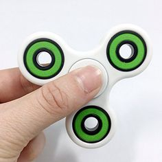Lalang Spinner Fidget Jouet Tri Fidget Hand Spinner Pour Adultes Enfant (Blanc+vert): S'adapte à votre poche pour une utilisation n'importe…