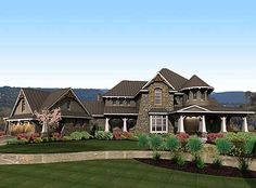 Plan W16847WG: Mountain, Premium Collection, Luxury, Corner Lot, Craftsman House Plans & Home Designs