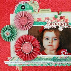 """Playing with some @echoparkpaper """"Jill"""" collection papers in this layout I created for some of their marketing pieces. You can find the complete supply list on my blog today at www.jengallacher.com. #scrapbooking"""