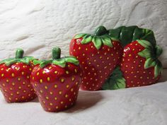 KMC Strawberries Table Set of napkin holder 4x5 by ItsADeal4You