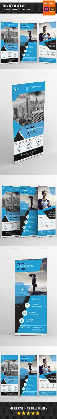 Buy Corporate Roll up by sydneytec on GraphicRiver. Corporate Roll-up Banners Template is for corporate and related industry. Comes with elegant, modern and clean design. Pull Up Banner Design, Pop Up Banner, Web Banner, Signage Design, Brochure Design, Rollup Design, Letterhead Template, Banner Stands, Display Ads