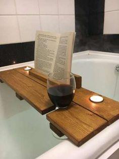 półka deska na wannę z miejscem na kieliszki, wino książkę świece Warszawa - image 1