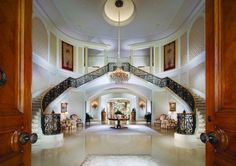 Expansive Entry/Entrée, formally owned by Aaron and Candy Spelling bought by Formula One Heiress, Mrs. Petra Ecclestone Stunt. Article By Brian Warner - July 2014 - via celebritynetworth.com