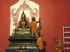 Buddha, Statue, Painting, Art, Painting Art, Paintings, Kunst, Paint, Draw